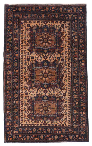 Belutsch Teppich  120X196 Echter Orientalischer Handgeknüpfter Dunkelbraun/Dunkelrot (Wolle, Afghanistan)