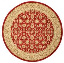 Ziegler Kaspin - Rot Teppich  Ø 250 Orientalischer Rund Rost/Rot/Dunkel Beige Großer ( Türkei)