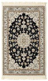 Nain Mahak Teppich  100X160 Orientalischer Hellgrau/Beige ( Türkei)