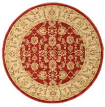 Ziegler Kaspin - Rot Teppich Ø 150 Orientalischer Rund Dunkel Beige/Rost/Rot ( Türkei)