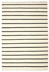 Dorri Stripe - Weiß/Schwarz Teppich 220X320 Echter Moderner Handgewebter Beige/Weiß/Creme (Wolle, Indien)