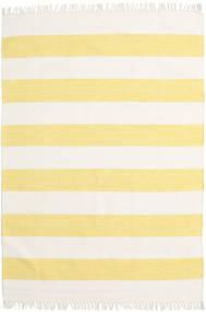 Cotton Stripe - Gelb Teppich  140X200 Echter Moderner Handgewebter Beige/Gelb (Baumwolle, Indien)