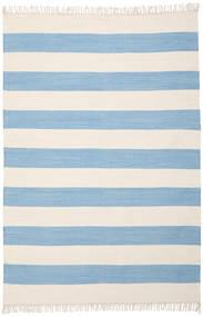 Cotton Stripe - Hell Blau Teppich  160X230 Echter Moderner Handgewebter Hellblau/Beige (Baumwolle, Indien)