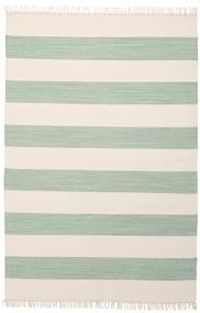 Cotton Stripe - Mint Teppich  140X200 Echter Moderner Handgewebter Beige/Lindgrün (Baumwolle, Indien)