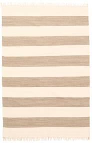 Cotton Stripe - Braun Teppich  140X200 Echter Moderner Handgewebter Beige (Baumwolle, Indien)
