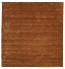 Handloom Fringes - Braun Teppich  200X200 Moderner Quadratisch Braun/Dunkelbraun (Wolle, Indien)
