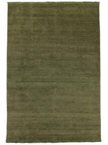 Handloom Fringes - Grün Teppich  200X300 Moderner Olivgrün/Dunkelgrün (Wolle, Indien)
