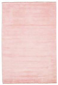 Handloom Fringes - Rosa Teppich  160X230 Moderner Hellrosa (Wolle, Indien)
