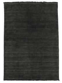 Handloom Fringes - Schwarz/Grau Teppich  140X200 Moderner Schwartz (Wolle, Indien)