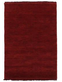 Handloom Fringes - Dunkelrot Teppich  140X200 Moderner Rot (Wolle, Indien)