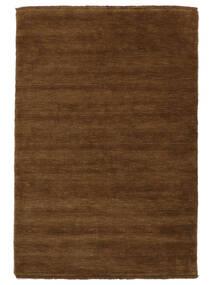 Handloom Fringes - Braun Teppich  140X200 Moderner Braun (Wolle, Indien)