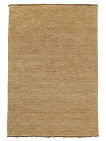 Handloom Fringes - Beige Teppich  140X200 Moderner Dunkel Beige/Beige (Wolle, Indien)