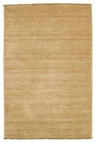 Handloom Fringes - Beige Teppich  120X180 Moderner Dunkel Beige/Beige (Wolle, Indien)
