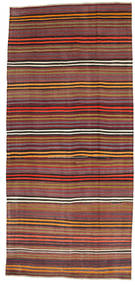 Kelim Halbantik Türkei Teppich  180X391 Echter Orientalischer Handgewebter Dunkelrot/Dunkelbraun (Wolle, Türkei)