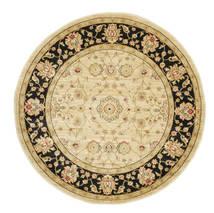 Farahan Ziegler - Beige Teppich  Ø 150 Orientalischer Rund Gelb/Dunkel Beige ( Türkei)