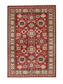 Schirwan Kazak Teppich  140X200 Orientalischer Dunkelrot/Dunkelbraun ( Türkei)