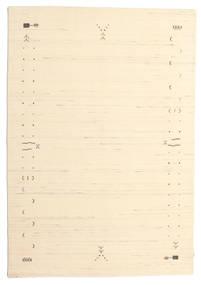 Gabbeh Loom Frame - Naturweiß Teppich 160X230 Moderner Beige/Dunkel Beige (Wolle, Indien)