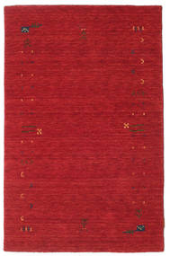 Gabbeh Loom Frame - Rost Rot Teppich  100X160 Moderner Rot (Wolle, Indien)