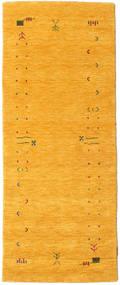 Gabbeh Loom Frame - Gelb Teppich  80X200 Moderner Läufer Orange (Wolle, Indien)