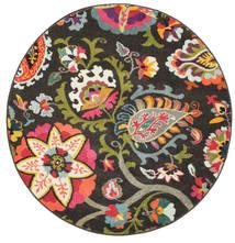 Allegra - Dunkel Teppich  Ø 150 Moderner Rund Dunkelgrau ( Türkei)