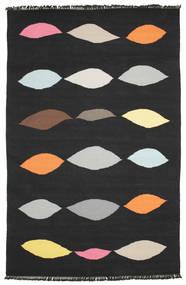 Leaves - Schwarz Teppich  190X290 Echter Moderner Handgewebter Schwartz (Wolle, Indien)
