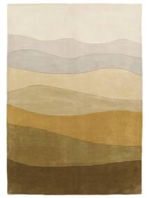 Feeling Handtufted - Braun Teppich  200X300 Moderner Olivgrün/Dunkel Beige/Gelb (Wolle, Indien)