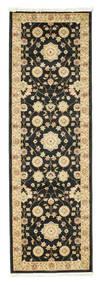 Farahan Ziegler - Schwarz Teppich  80X250 Orientalischer Läufer Schwartz/Dunkel Beige ( Türkei)