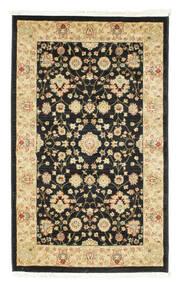 Farahan Ziegler - Schwarz Teppich  100X160 Orientalischer Schwartz/Gelb ( Türkei)
