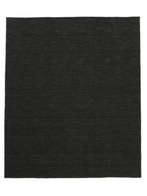 Kelim Loom - Schwarz Teppich  250X300 Echter Moderner Handgewebter Schwartz Großer (Wolle, Indien)