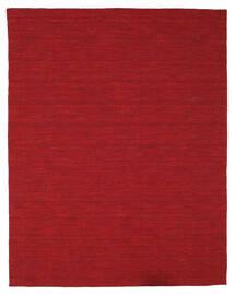 Kelim Loom - Dunkelrot Teppich  200X250 Echter Moderner Handgewebter Rot (Wolle, Indien)
