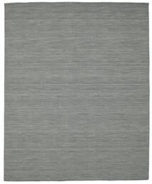 Kelim Loom - Dunkelgrau Teppich  200X250 Echter Moderner Handgewebter Dunkelgrau/Hell Grün (Wolle, Indien)