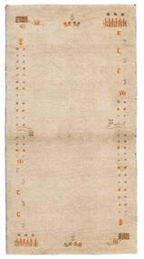 Gabbeh Indisch Teppich  74X141 Echter Moderner Handgeknüpfter Beige (Wolle, Indien)