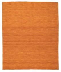 Kelim Loom - Orange Teppich  250X300 Echter Moderner Handgewebter Orange Großer (Wolle, Indien)