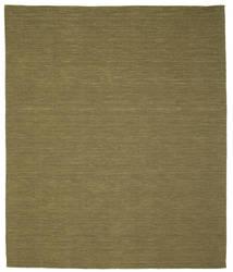 Kelim Loom - Olive Teppich  250X300 Echter Moderner Handgewebter Olivgrün Großer (Wolle, Indien)