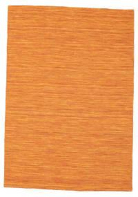 Kelim Loom - Orange Teppich  140X200 Echter Moderner Handgewebter Orange (Wolle, Indien)