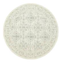 Ziegler Greenville Teppich  Ø 250 Orientalischer Rund Weiß/Creme/Hellgrau Großer ( Türkei)