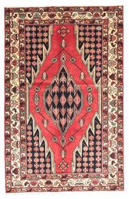 Saveh Teppich  130X200 Echter Orientalischer Handgeknüpfter Dunkelbraun/Dunkelrot (Wolle, Persien/Iran)