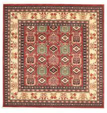 Kazak Simav Teppich  200X200 Orientalischer Quadratisch Dunkelrot/Rost/Rot ( Türkei)