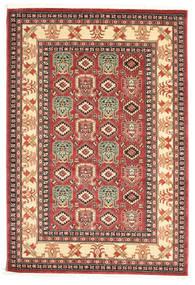 Kazak Simav Teppich  160X230 Orientalischer Dunkelbraun/Rost/Rot ( Türkei)