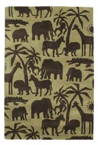 Africa Handtufted Teppich  120X180 Moderner Dunkelbraun/Olivgrün/Hell Grün (Wolle, Indien)
