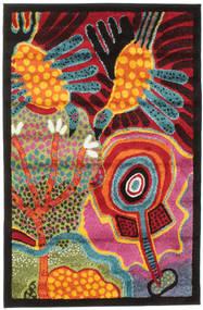 Twins Teppich  100X150 Moderner Dunkelbraun/Orange ( Türkei)