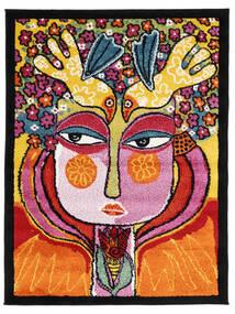 She Has Flowers In Her Hair Teppich  100X130 Moderner Orange/Schwartz ( Türkei)