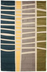 Abstract Bambus Teppich  200X300 Moderner Beige/Blau/Hellgrau ( Türkei)