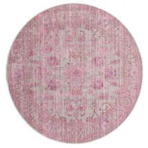 Maharani - Grau/Rosa Teppich  Ø 150 Moderner Rund Hellrosa ( Türkei)