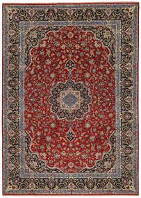Ilam Sherkat Farsh Seide Teppich 245X350 Echter Orientalischer Handgeknüpfter Dunkelrot/Dunkelbraun/Dunkelgrau (Wolle/Seide, Persien/Iran)