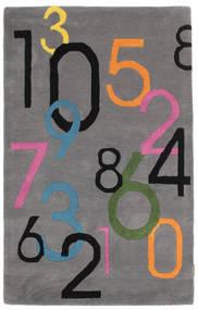 Lucky Numbers - Grau Teppich  100X160 Moderner Dunkelbraun/Dunkelgrau (Wolle, Indien)