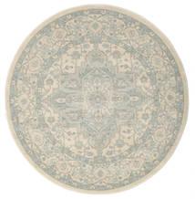 Ziegler Phoenix - Beige/Blau Teppich  Ø 150 Orientalischer Rund Hellgrau/Dunkel Beige ( Türkei)