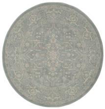 Ziegler Phoenix - Blau Teppich  Ø 150 Orientalischer Rund Hellgrau ( Türkei)