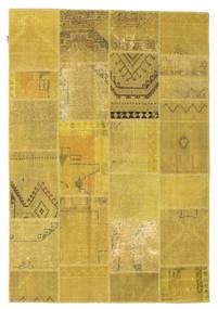 Patchwork Teppich  159X231 Echter Moderner Handgeknüpfter Gelb/Olivgrün (Wolle, Türkei)