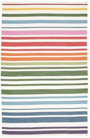 Rainbow Stripe - Weiß Teppich  250X300 Echter Moderner Handgewebter Weiß/Creme Großer (Baumwolle, Indien)